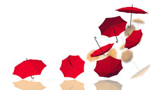 Background Umbrellas Colors Gr...