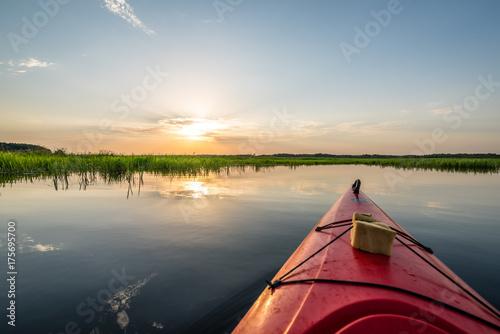 Idyllic scenery of Biebrza National Park, Poland