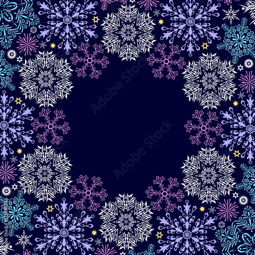 christmas-card-with-snowflakes