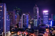Night Cityscape View Of Metropolis