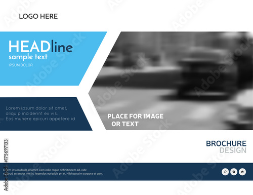 blue business presentation template technology brochure design modern leaflet layout vector corporate identity
