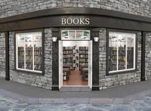 Books Store Exterior, 3d Illus...