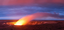 Kilauea Volcano Crater As It E...