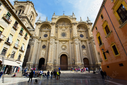 Fotomural The famous cathedral in Granada, Andalusia