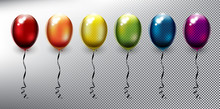 Set Of 6 Colorful Helium Ballo...