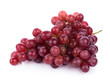 canvas print picture - Ripe red grape isolated on white background