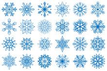 Snowflake Vector Ornaments Set...