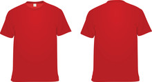 Red  T Shirt. Vector Illustration