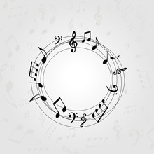 Black And White Music Banner W...