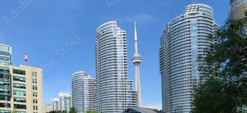 Zdjęcie XXL Piękna nadjeziorna panorama architektura Toronto, Kanada.