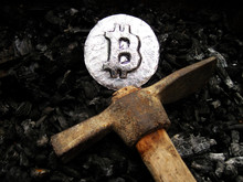 Bitcoin Mining. A Mine With Re...