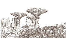 Sketch Of Garden By The Bay At...