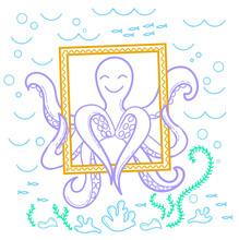 Illustration Of An Octopus