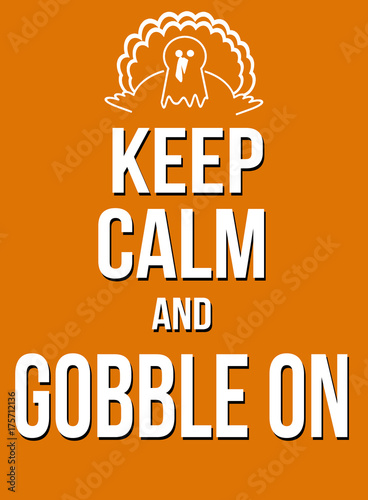 Keep calm and gobble on poster Plakát
