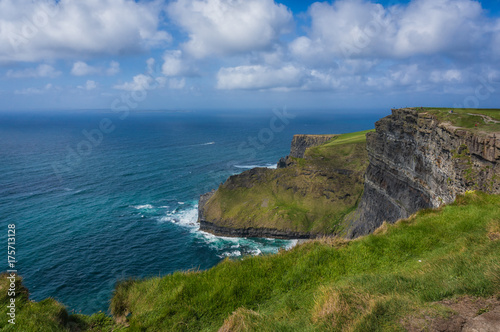 People viewing Aran Isles from Cliffs of Moher Canvas Print