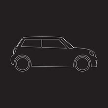 Hatchback Mini Car Icon