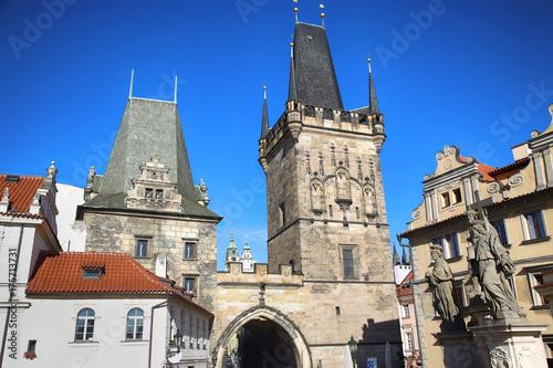 Staande foto Rome Lesser Town Bridge Tower, Prague, Czech Republic