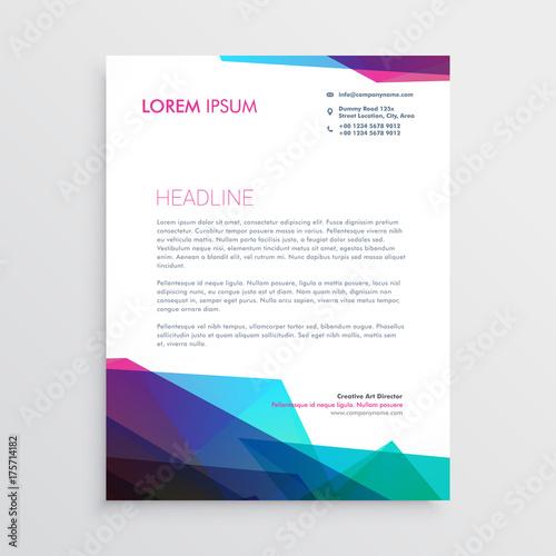 Fototapeta creative vibrant letterhead vector design obraz