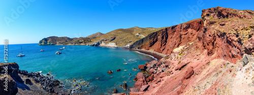 Fototapeta Red Beach, Akrotiri, Greece, Santorini-Thira- one of the most fa obraz