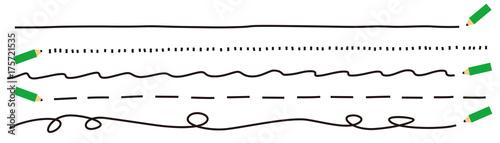 Fotomural 鉛筆 飾り 線