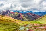 Fototapeta Tęcza - Vinicunca or Rainbow Mountain,Pitumarca, Peru