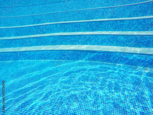 Plakat Schody podwodne basenu