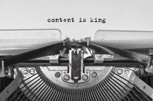 Content Is King Typed Words On...