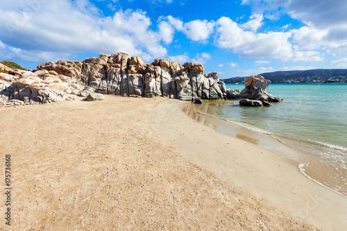 Beach on Paros island Canvas Print