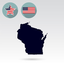 Map Of The U.S. State Of Wisco...