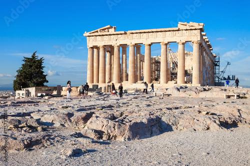 Staande foto Athene Parthenon Temple in Athens