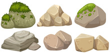 Different Shapes Of Stone With...