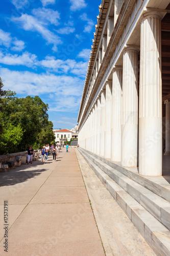 Plakat Starożytna Agora w Atenach