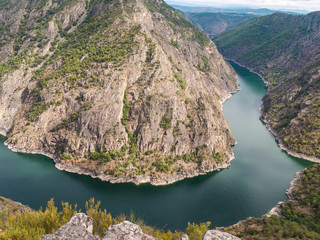 Spectacular view of Sil river canyon in the province of Ourense, Galicia, Spain