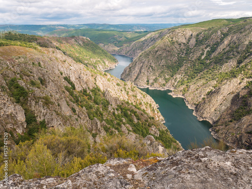 Canyon of Sil river in the province of Ourense, Galicia, Spain
