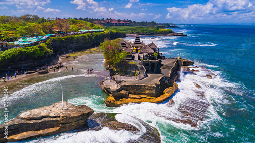 Poster de jardin Bali Tanah Lot - Temple in the Ocean. Bali, Indonesia.