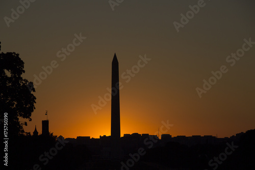 Fotografie, Obraz  Washington Monument at sunset in Washington District of Columbia