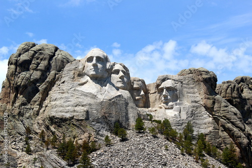 Spoed Foto op Canvas Cappuccino Mount Rushmore