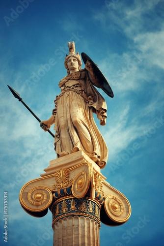 Foto auf Leinwand Athen Athena statue