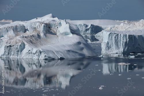 Foto op Canvas Gletsjers Gletscher in der Diskobucht