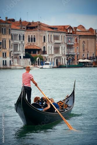 Fotobehang Gondolas Gondola in canal in Venice