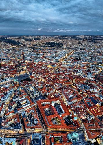 Obraz na dibondzie (fotoboard) Historyczne centrum Pragi. widok z wysokości lotu ptaka