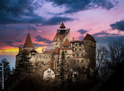 Aluminium Prints Castle Bran Castle, Transylvania, Romania, known as