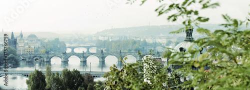 Plakat Poranna Praga, Mołdawia, nostalgiczny, panorama