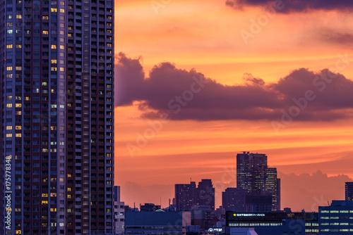 Obraz na dibondzie (fotoboard) Krajobraz miejski wieczorem