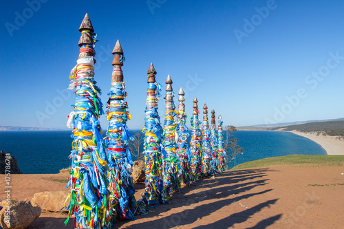 Photo Shamanic syllables on the island of Olkhon, Lake Baikal