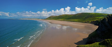 Elevated View Of Rhossili Bay ...