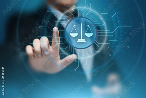 Fotografie, Obraz  Libra Scales Attorney at Law Business Legal Lawyer Internet Technology