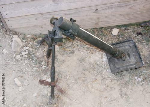 Plakat stary niemiecki moździerz