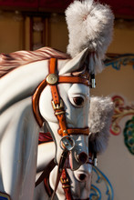 Head Of A Plastic Horse From An Old Carousel