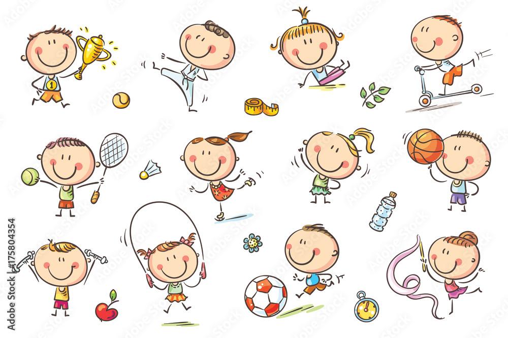 Fototapeta Kids and Sport